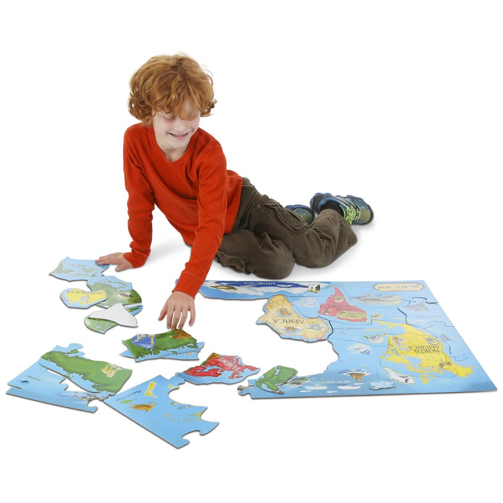 Alternate Image #6 of World & US Floor Puzzles