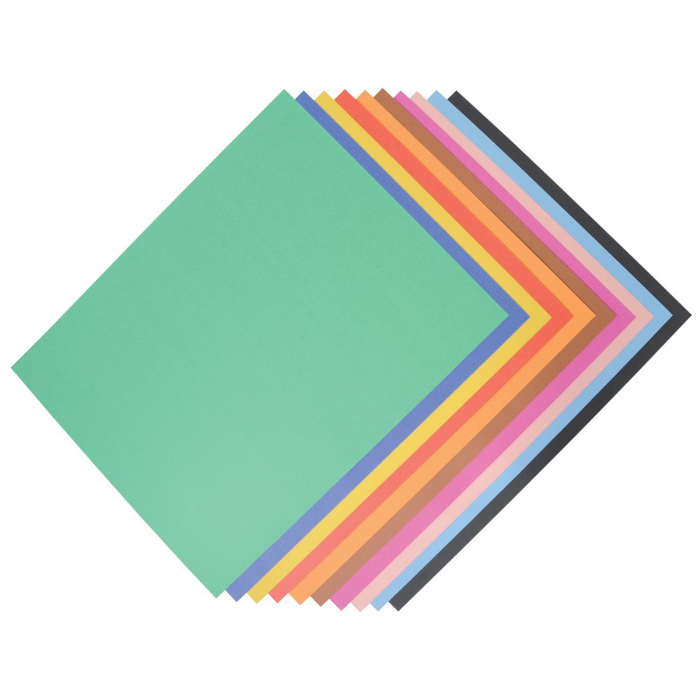 Poster Board - Assorted Colors - 100 Sheets