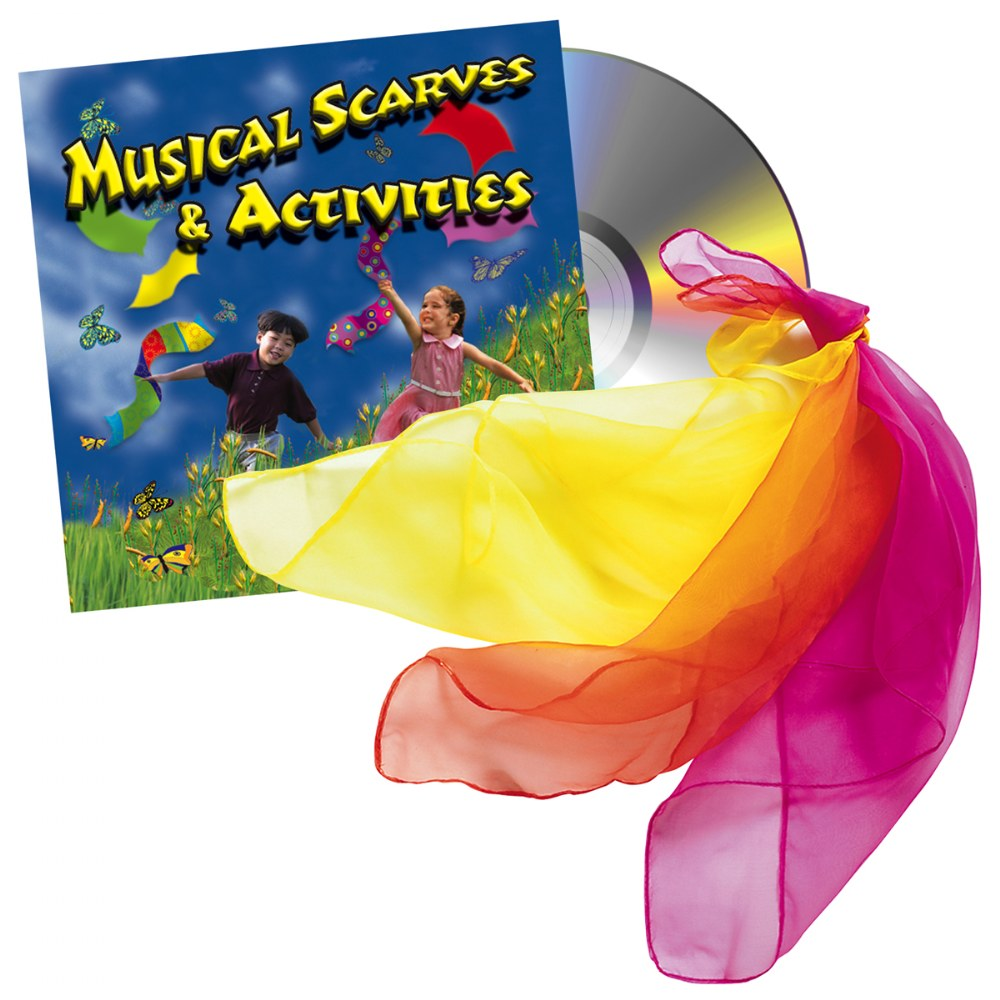 Musical Scarves & Activity CD and 12 Colorful Scarfs
