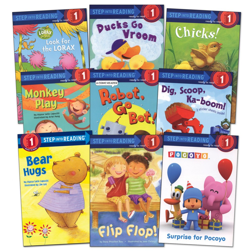 Step Into Reading Book Set - Level 1 (Set of 9)