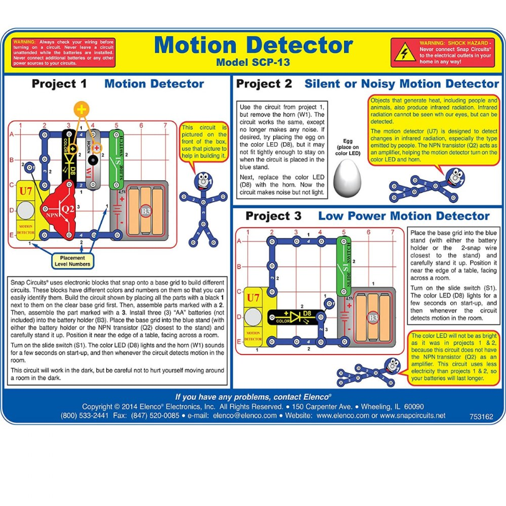 Alternate Image #2 of Snap Circuits® Motion Detector Electronics Exploration Kit