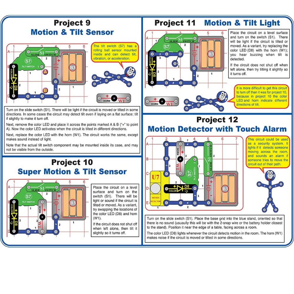 Alternate Image #3 of Snap Circuits® Motion Detector Electronics Exploration Kit
