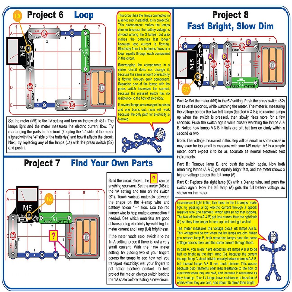 Alternate Image #2 of Snap Circuits® Basic Electricity and Electronics Exploration Kit