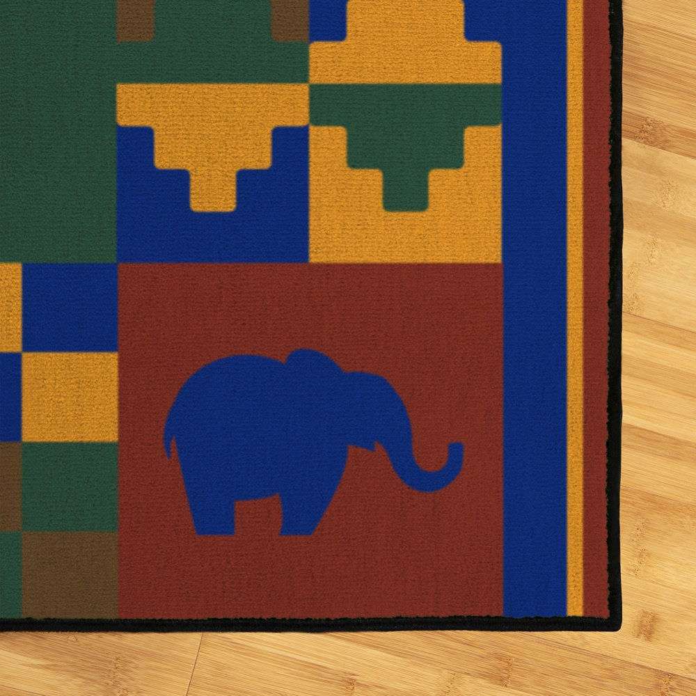 Alternate Image #1 of Cultural 4' x 6' Carpet - Africa