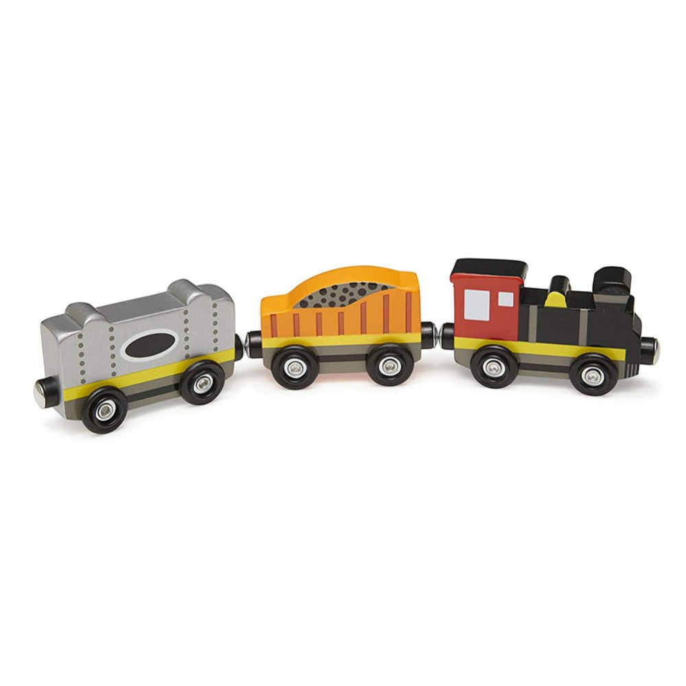 Alternate Image #1 of Wooden Magnetic Train Cars - Set of 8