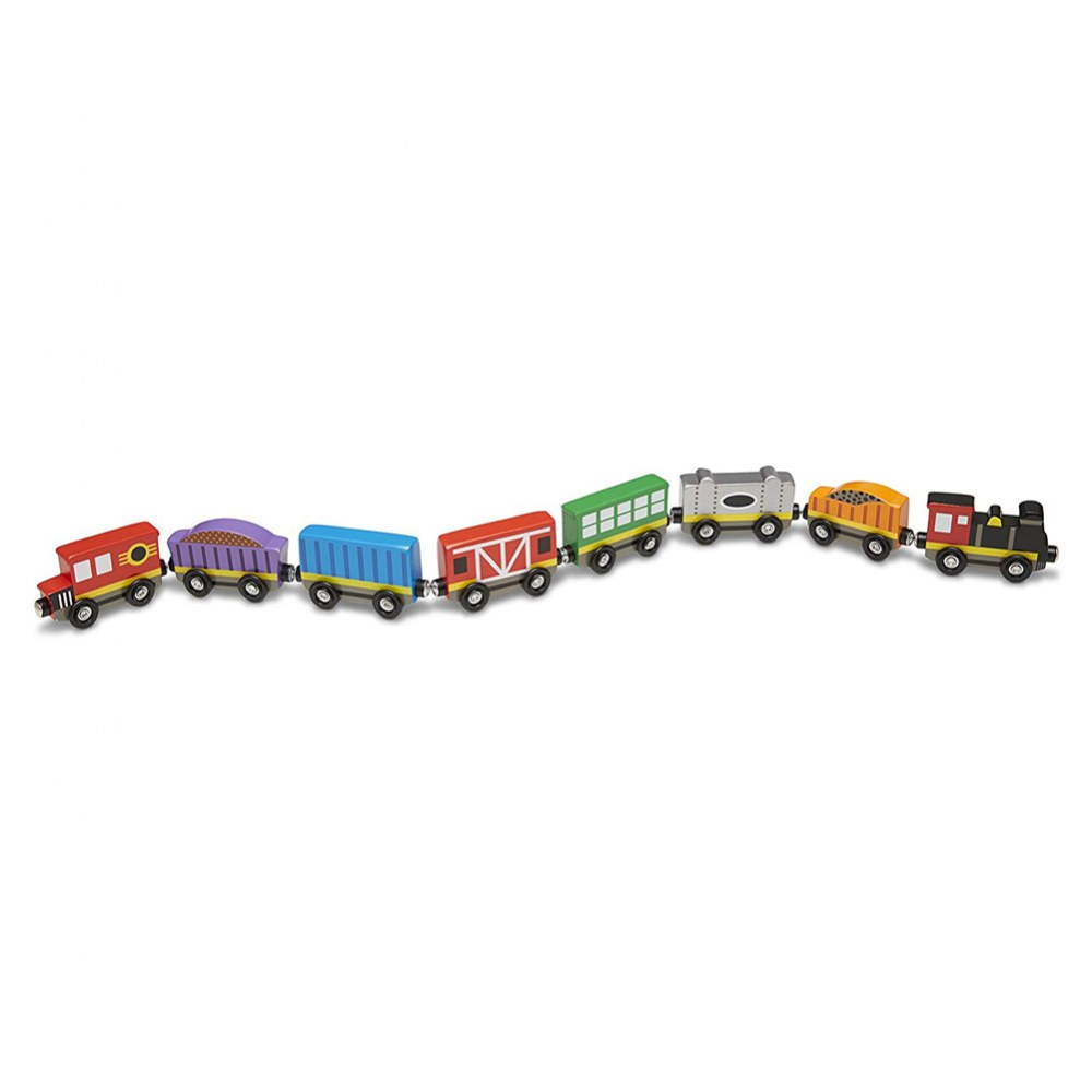 Alternate Image #2 of Wooden Magnetic Train Cars - Set of 8