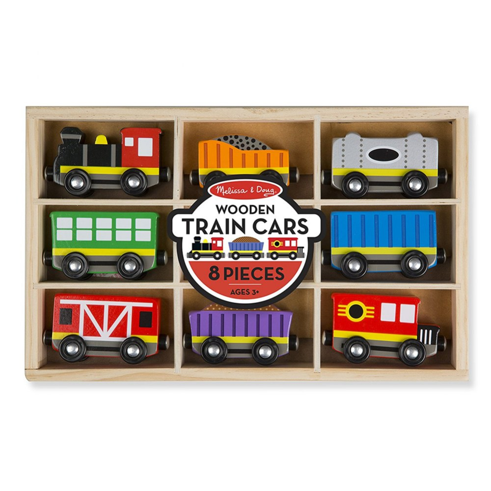 Alternate Image #3 of Wooden Magnetic Train Cars - Set of 8