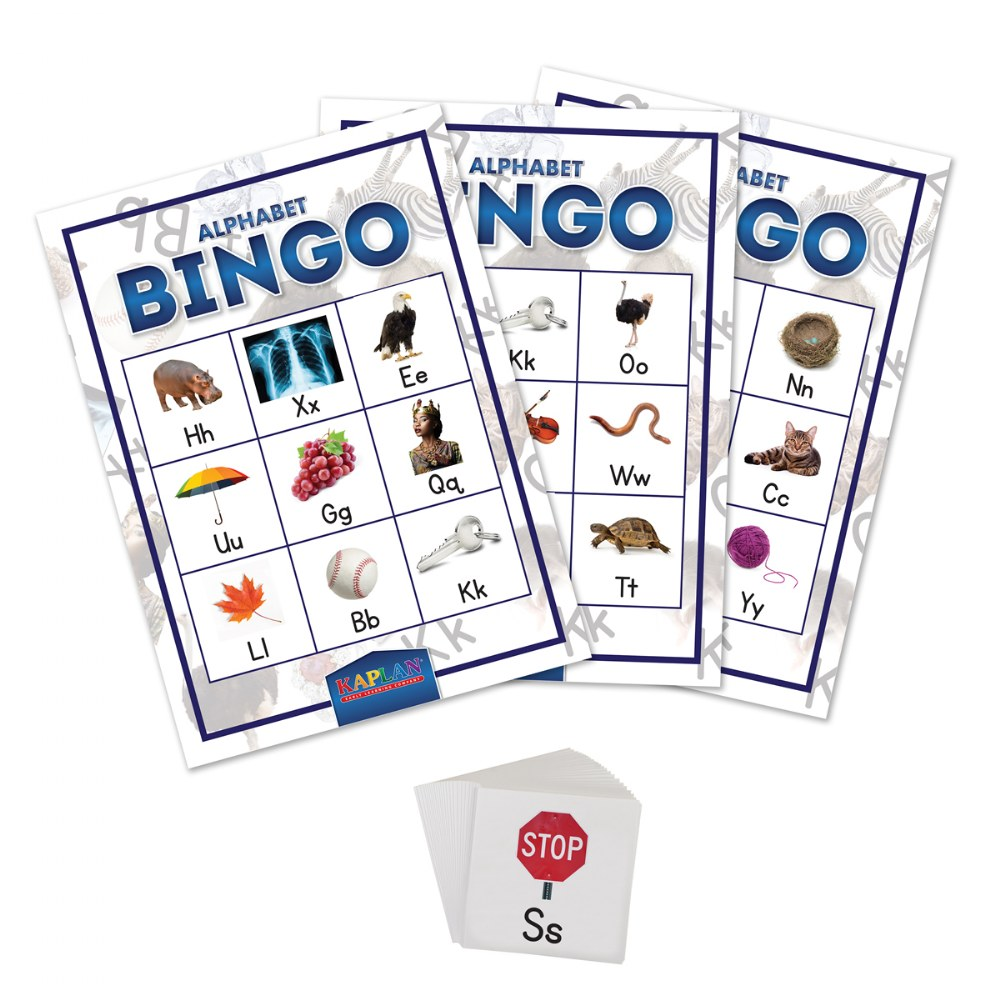 Alternate Image #1 of Alphabet Bingo Matching Letter Recognition Kid's Learning Game