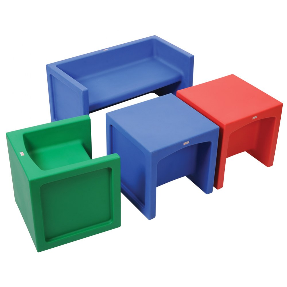Alternate Image #1 of Versatile Seating Group of Cube Chairs and Bench