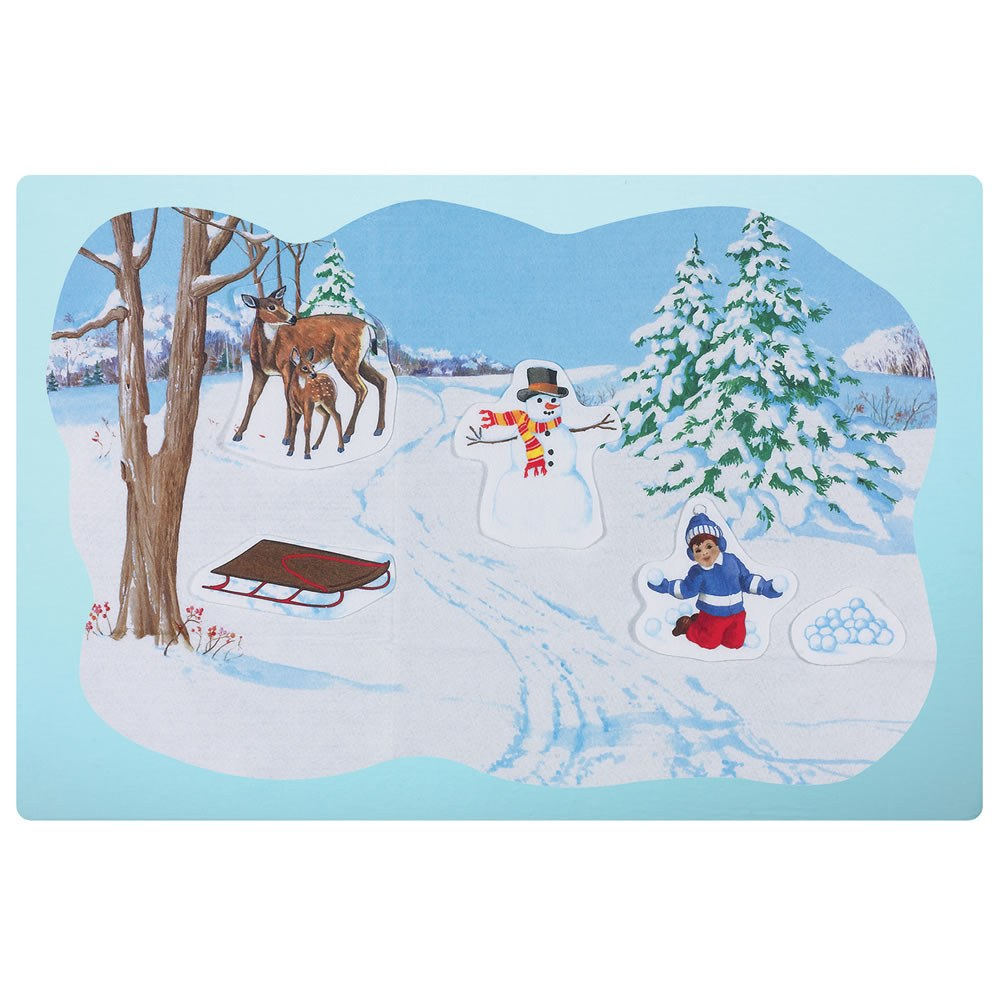 Winter Scene Flannelboard Pre-Cut Set