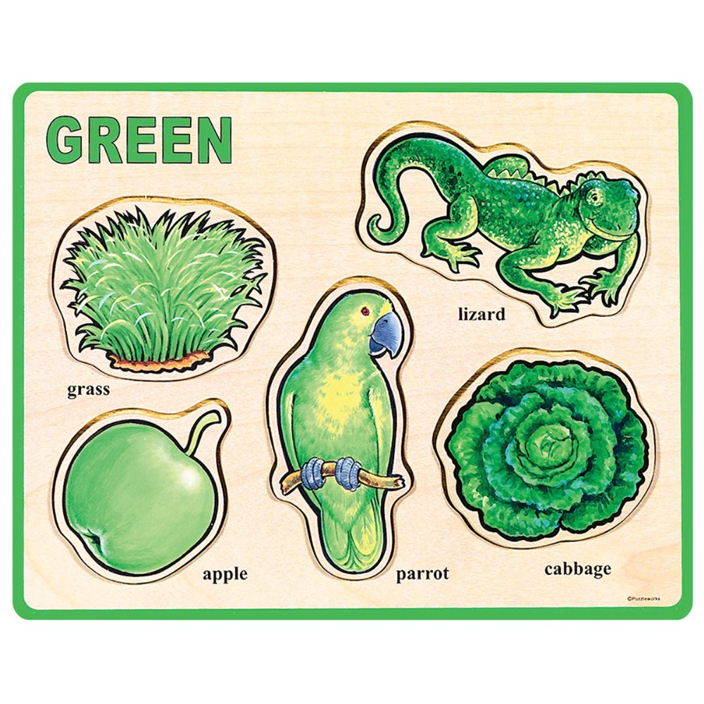 Alternate Image #4 of Basic Color and Word Wooden Puzzles - Set of 8