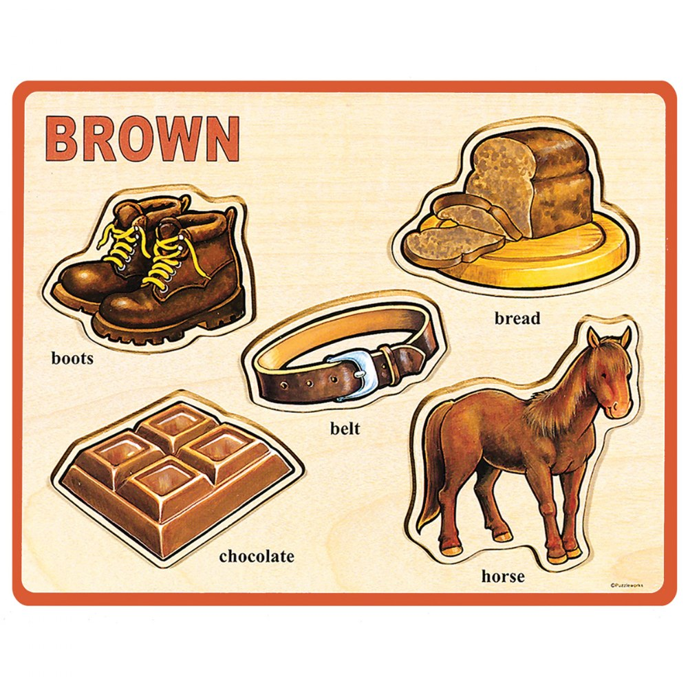 Alternate Image #6 of Basic Color and Word Wooden Puzzles - Set of 8