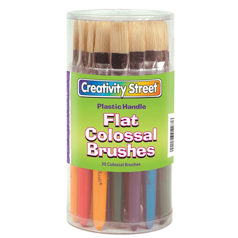 Alternate Image #3 of 30 Flat Stubby Paint Brushes