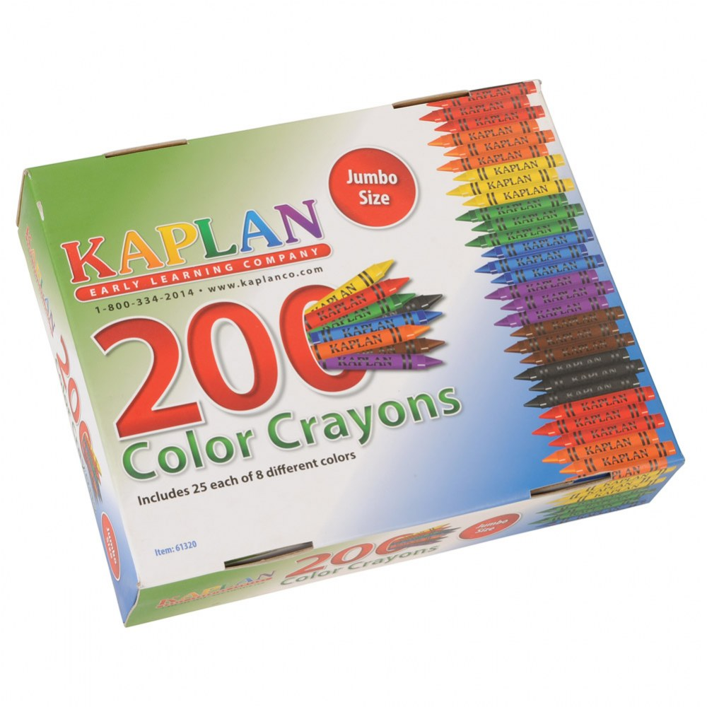Alternate Image #1 of Jumbo Crayons Class Pack - 200 Per Box