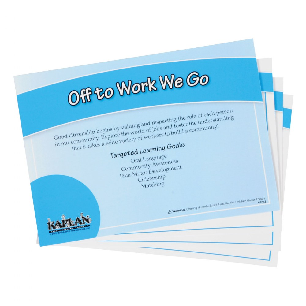 Alternate Image #1 of Back to Back Learning Kit - Off To Work We Go