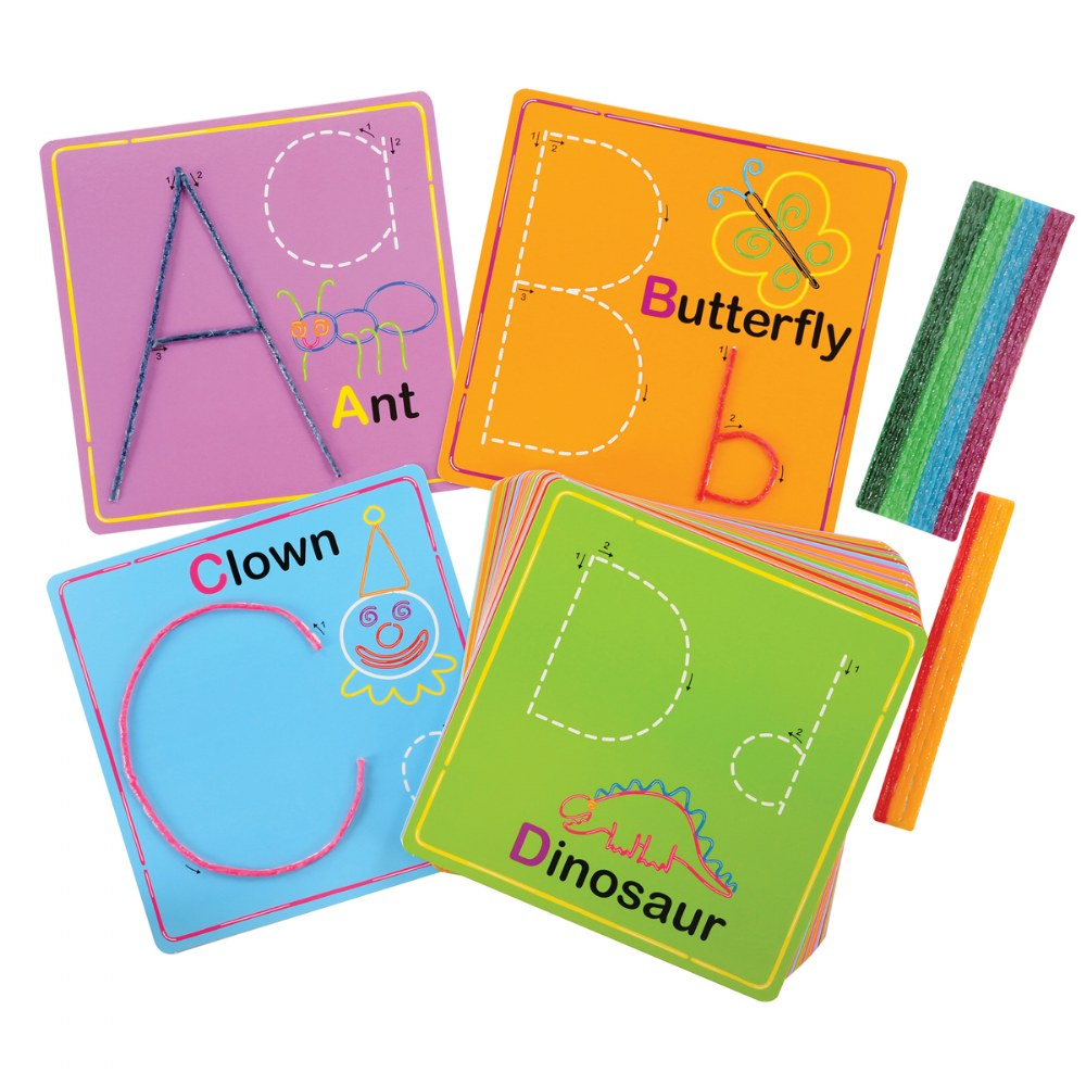 Alternate Image #7 of Wikki Stix® Alphabet With Upper & Lowercase and Numbers & Counting Cards