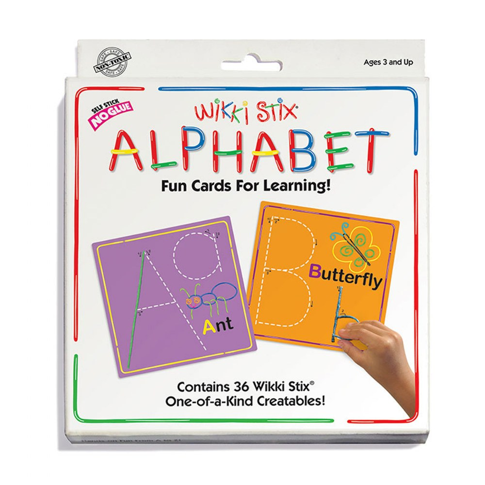 Alternate Image #9 of Wikki Stix® Alphabet With Upper & Lowercase and Numbers & Counting Cards