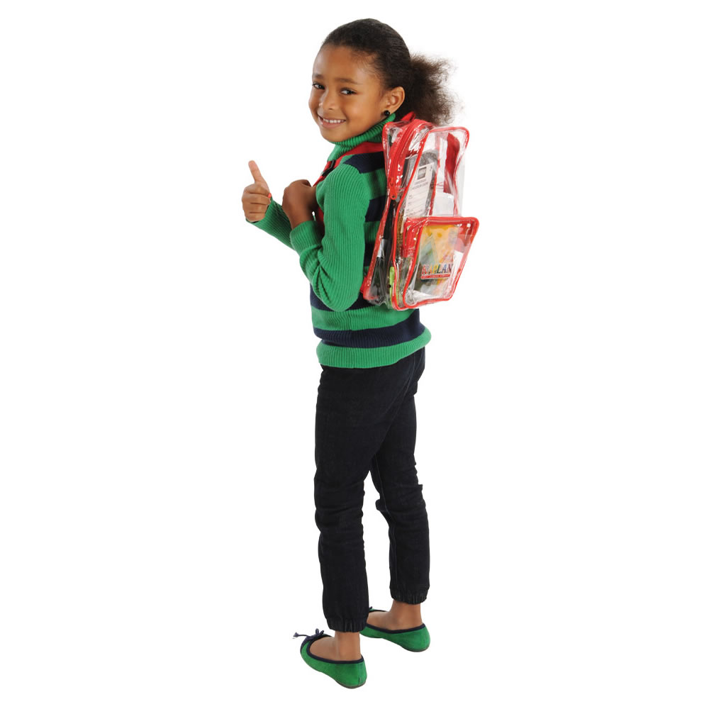 Alternate Image #1 of Small Clear Take Home Backpack Set (Set of 10)