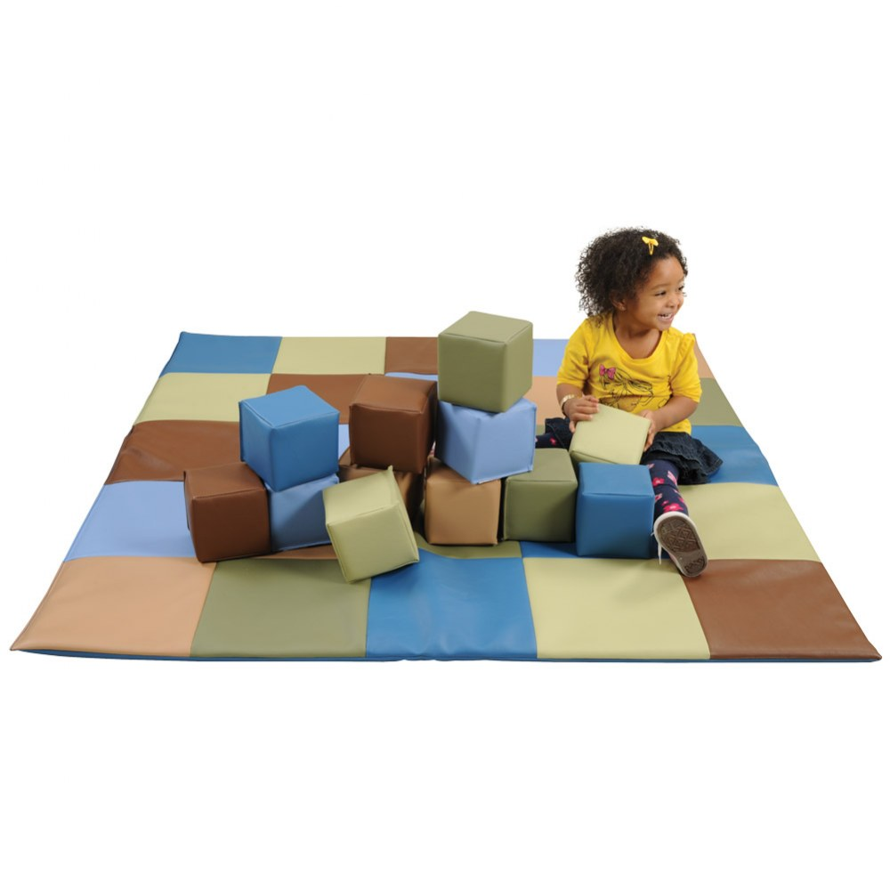 Woodland Patchwork Crawley Mat and Blocks