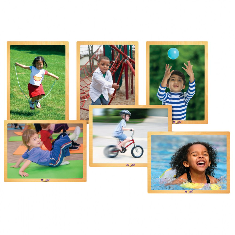 Real Image Kids in Motion Puzzles - Set of 6