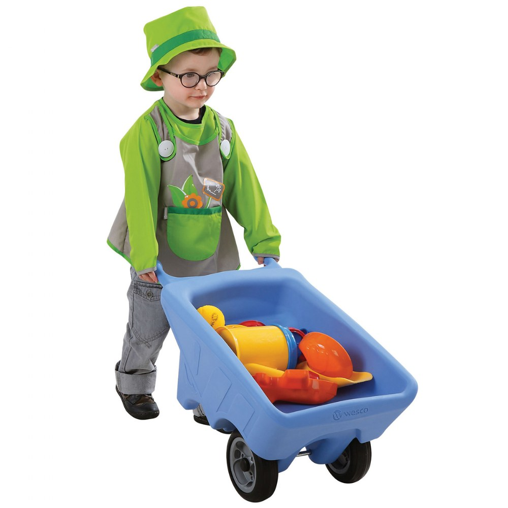 Alternate Image #2 of Toddler Sized Small Wheelbarrow in Blue