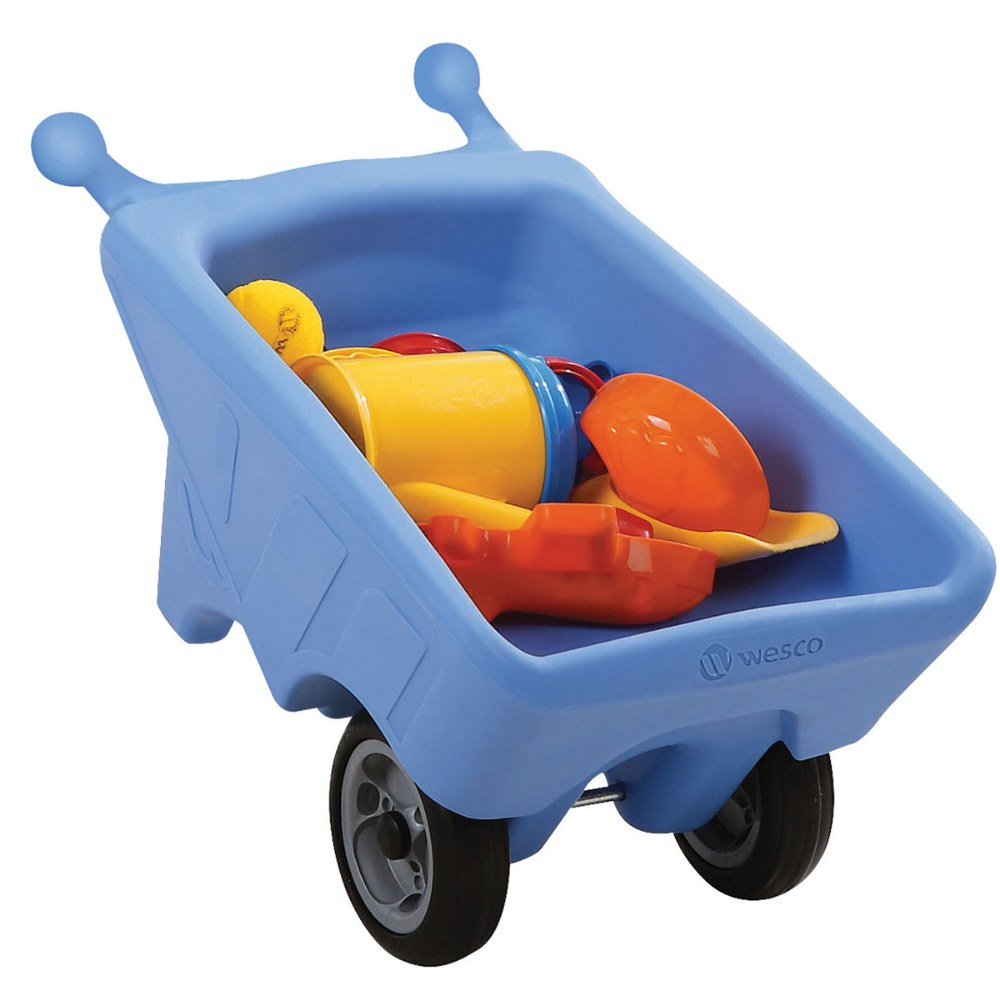 Alternate Image #1 of Toddler Sized Small Wheelbarrow in Blue
