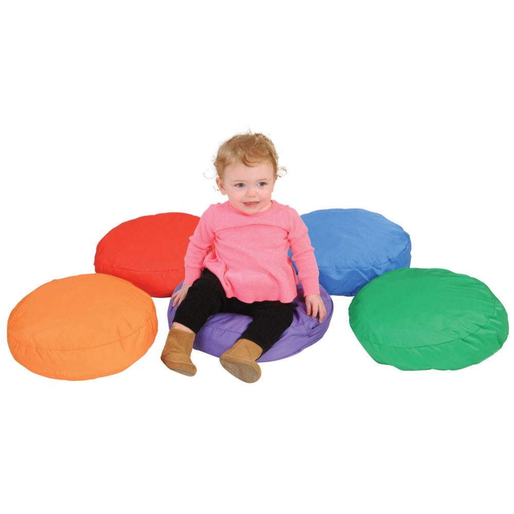 Alternate Image #1 of Round Soft Pillows (Set of 5)