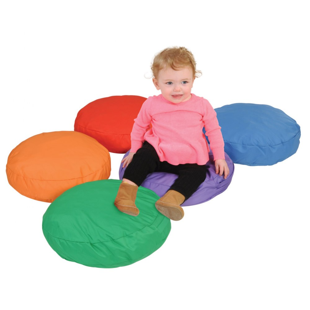Alternate Image #2 of Round Soft Pillows (Set of 5)