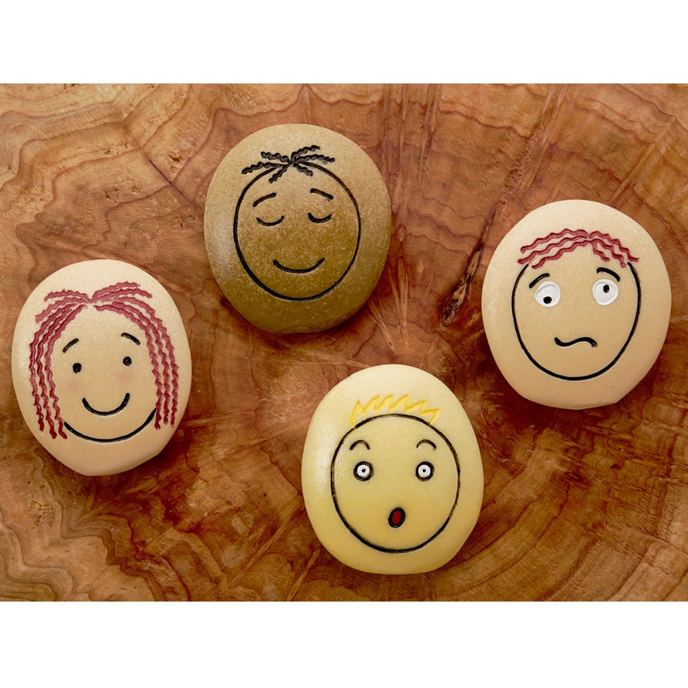 Alternate Image #3 of Tactile Emotion Stones For Children To Learn About Feelings - Set of 12