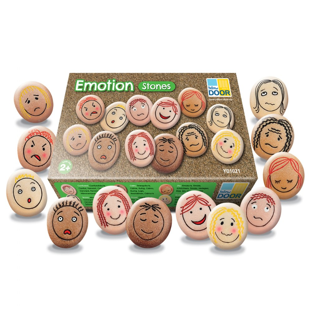 Alternate Image #6 of Tactile Emotion Stones For Children To Learn About Feelings - Set of 12