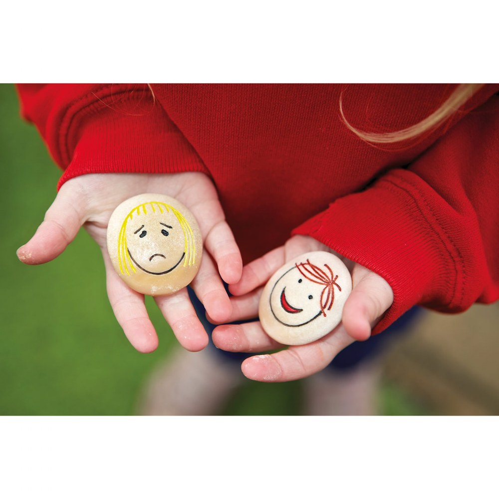 Alternate Image #5 of Tactile Emotion Stones For Children To Learn About Feelings - Set of 12