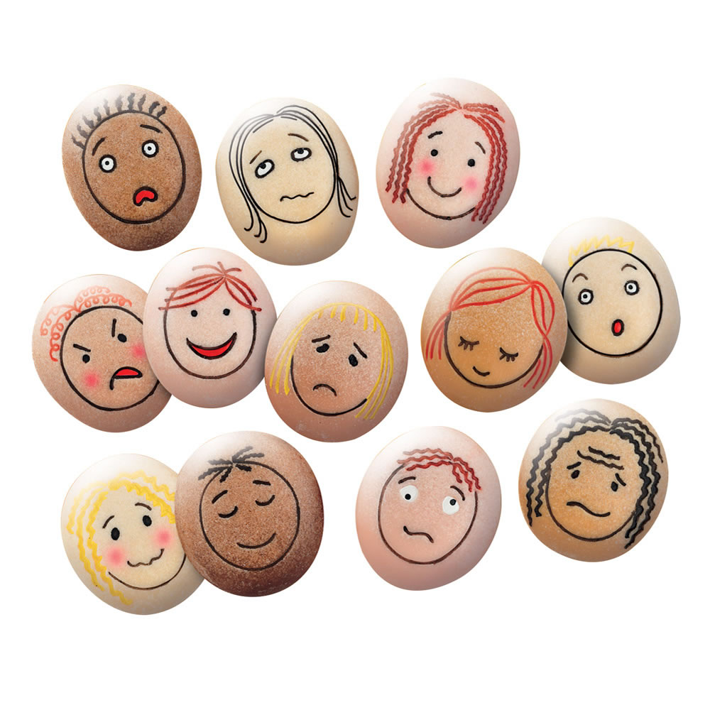 Alternate Image #1 of Tactile Emotion Stones For Children To Learn About Feelings - Set of 12