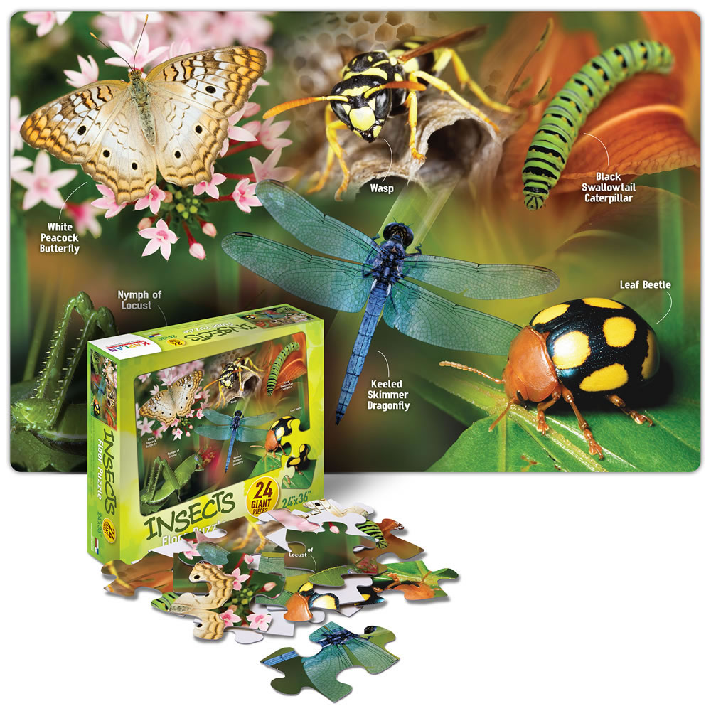 Insects Floor Puzzle - 24 Pieces