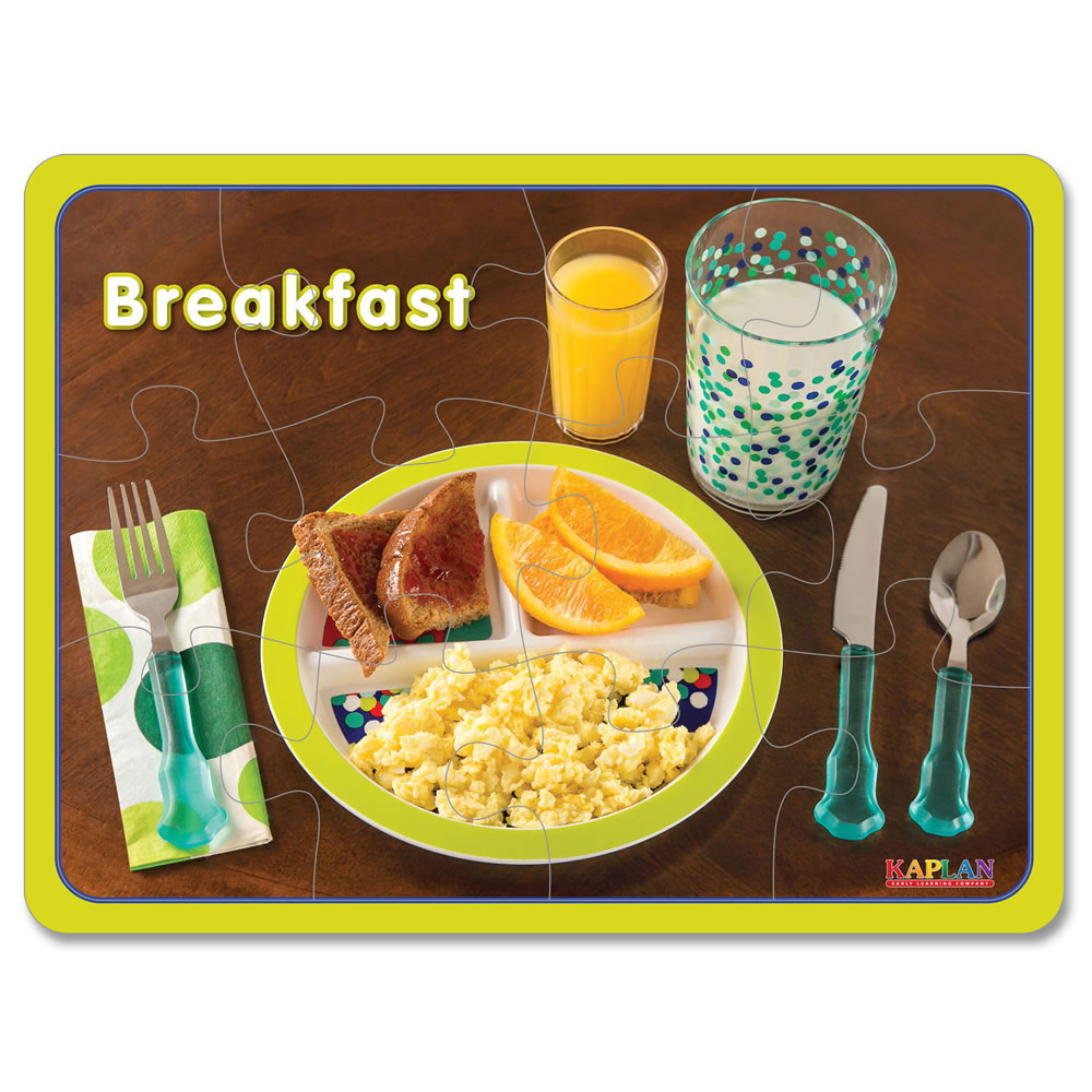 Alternate Image #1 of Breakfast, Lunch and Dinner Healthy Meals Puzzles - Set of 3