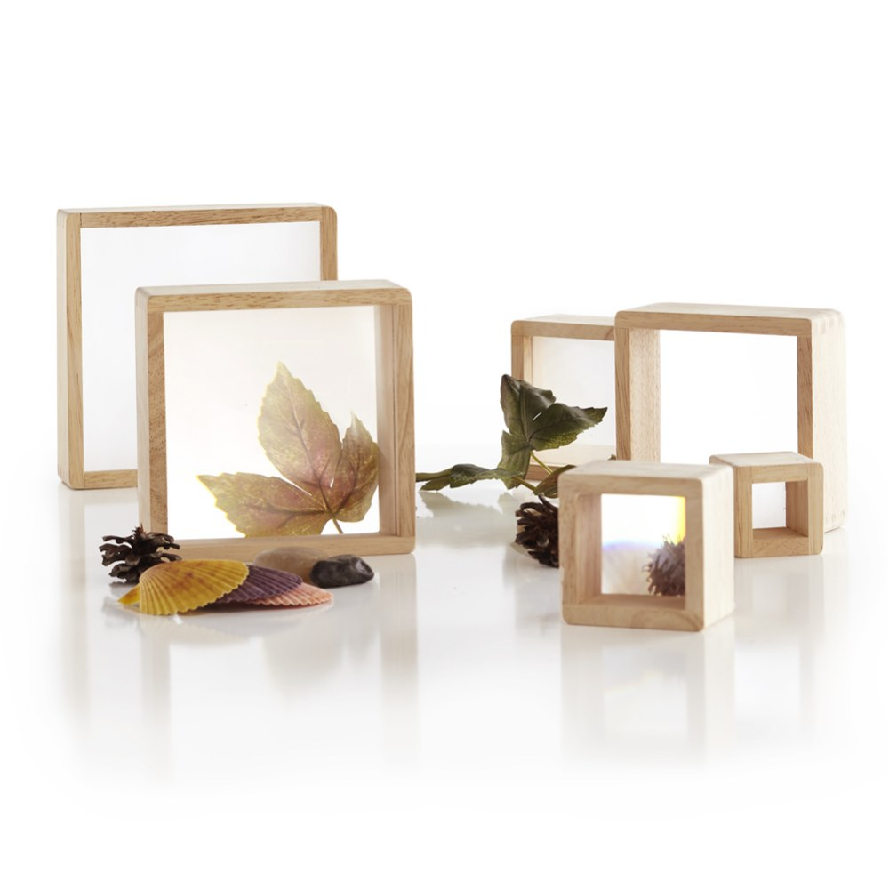 Alternate Image #1 of Wooden Framed Magnification Stacking Blocks