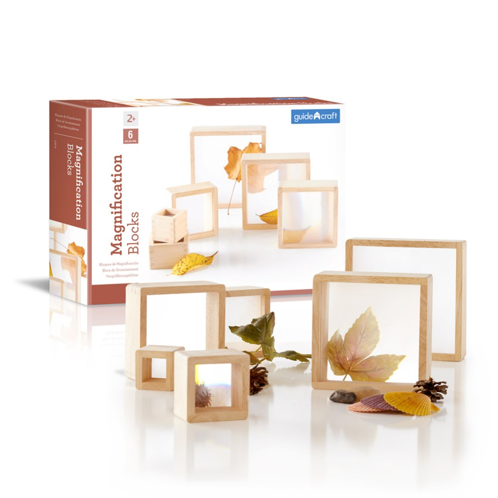 Alternate Image #2 of Wooden Framed Magnification Stacking Blocks