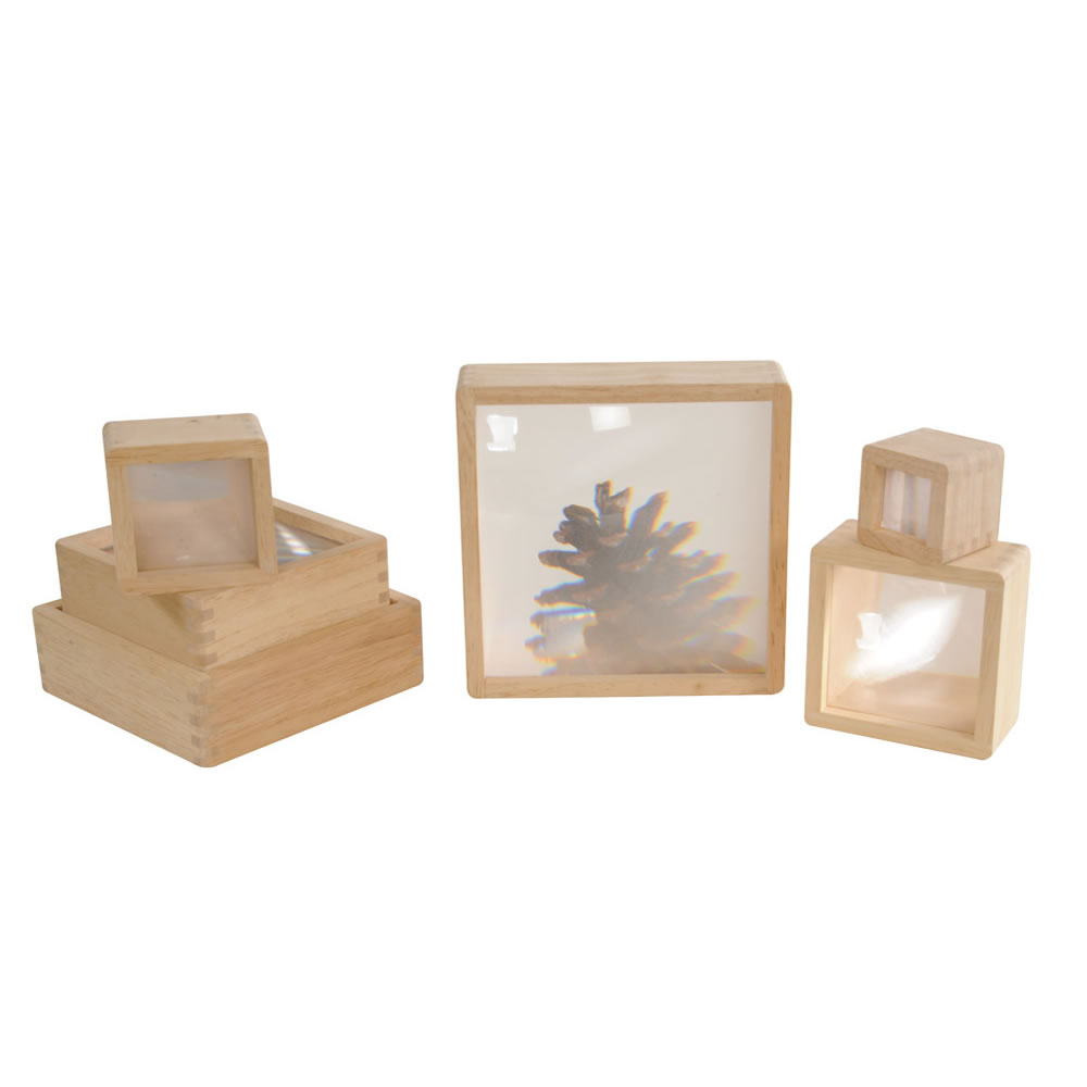 Alternate Image #6 of Wooden Framed Magnification Stacking Blocks