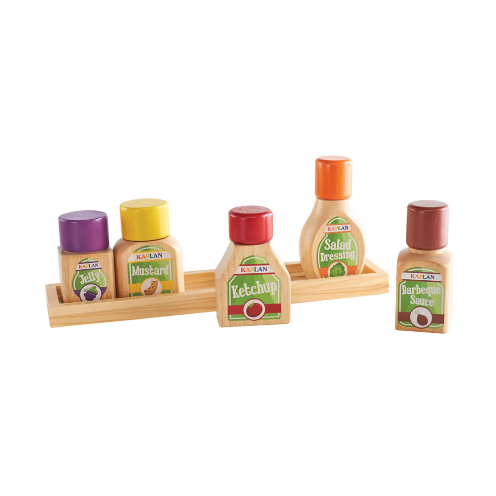 Alternate Image #7 of Kaplan Pretend Foods Condiment Set