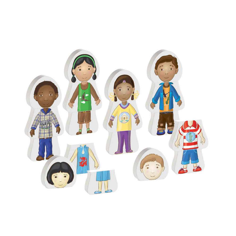 Multicultural Friends Puzzles - Set of 6