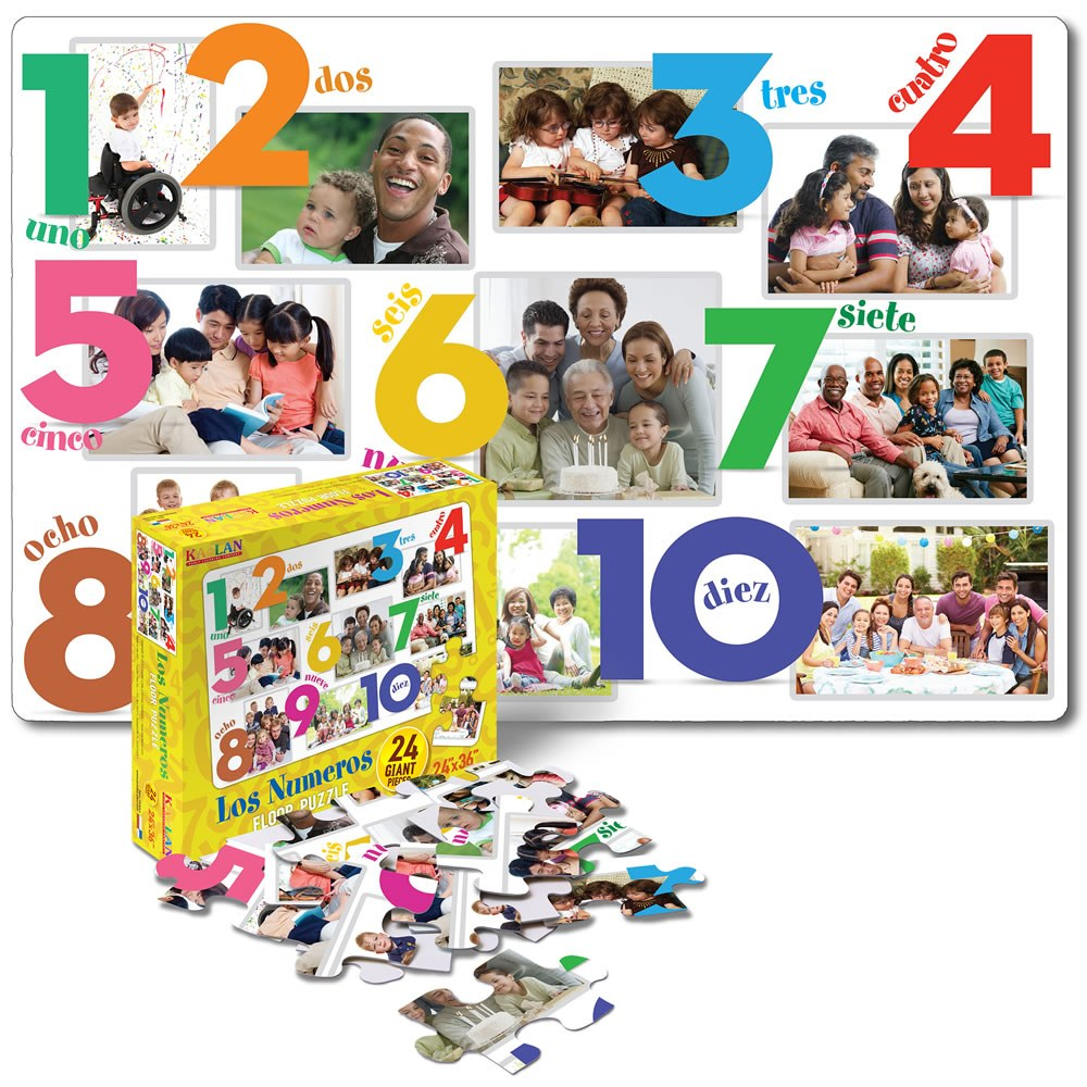 Spanish & Bilingual 24-Piece Floor Puzzles