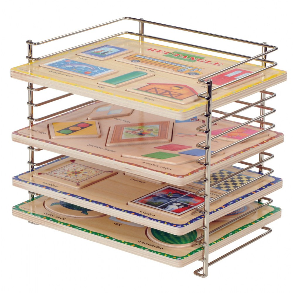Alternate Image #1 of 12-Slot Wire Puzzle Rack