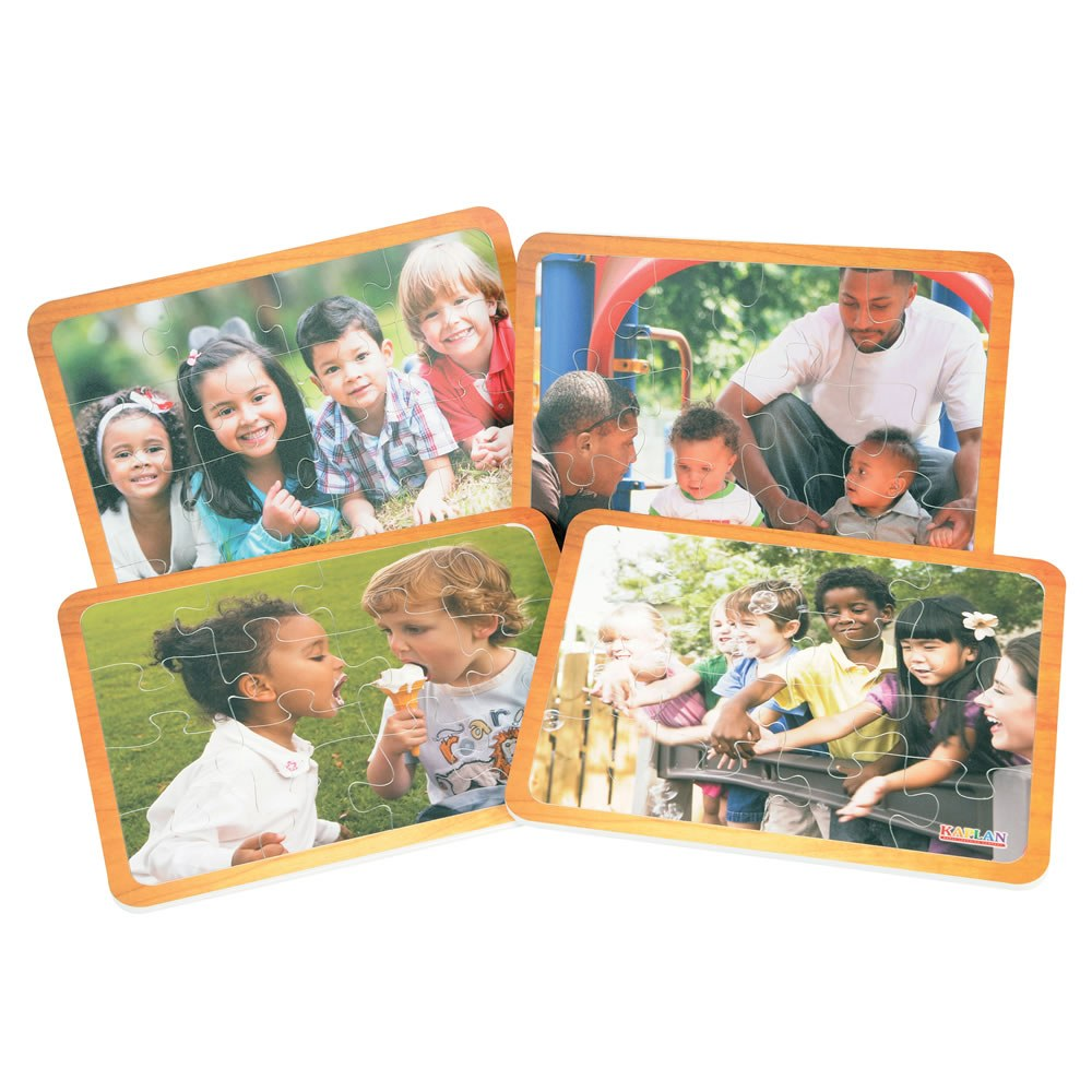 Friends Like Me Diversity Puzzles - Set of 4