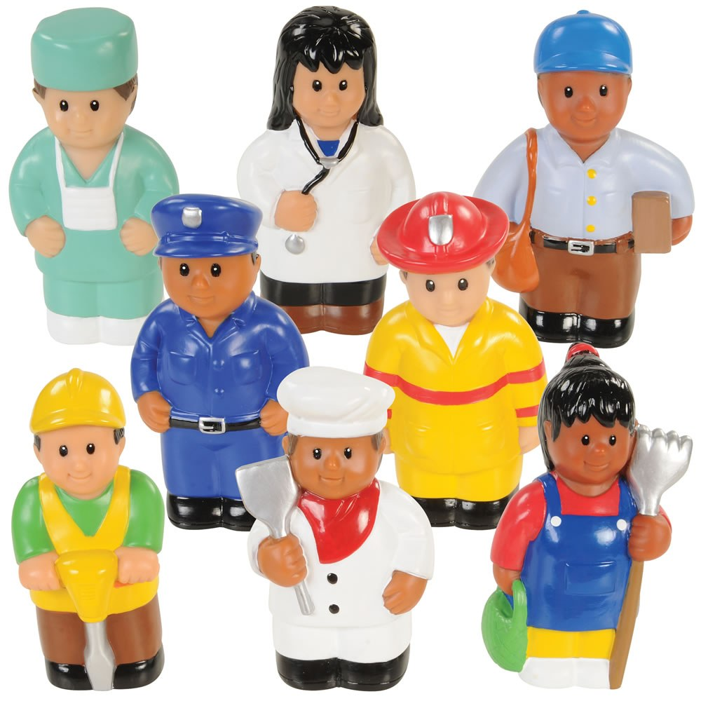 "Community Workers 5"" Tall - Set of 8"