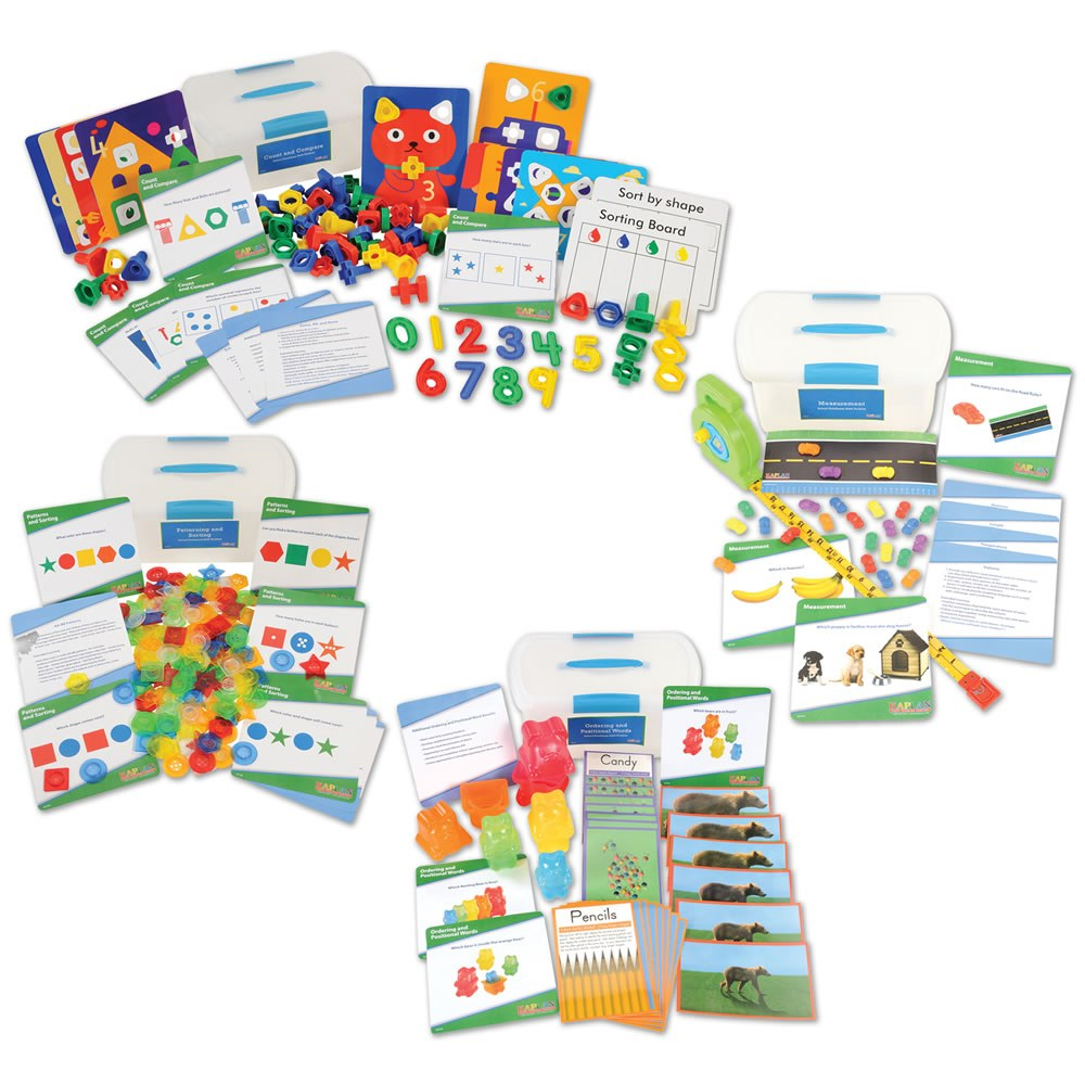 School Readiness Math Toolboxes (Set of 4)