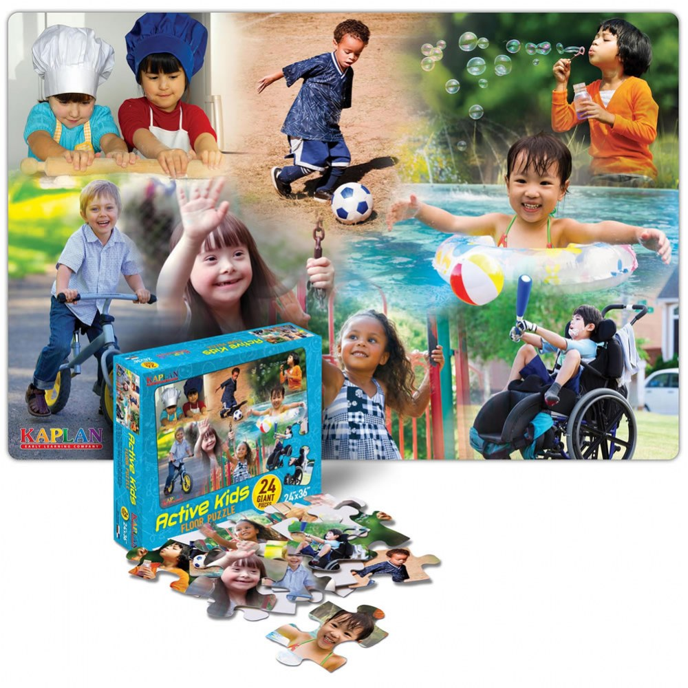 Active Kids Floor Puzzle - 24 Pieces