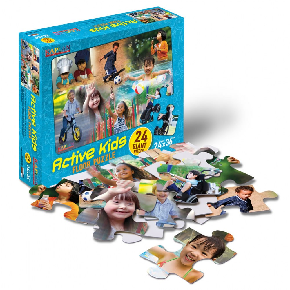 Alternate Image #1 of Active Kids Floor Puzzle - 24 Pieces
