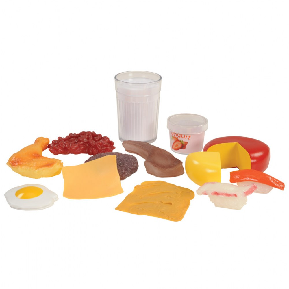 Alternate Image #1 of Pretend Play Healthy Eating Food Set of 48 Pieces