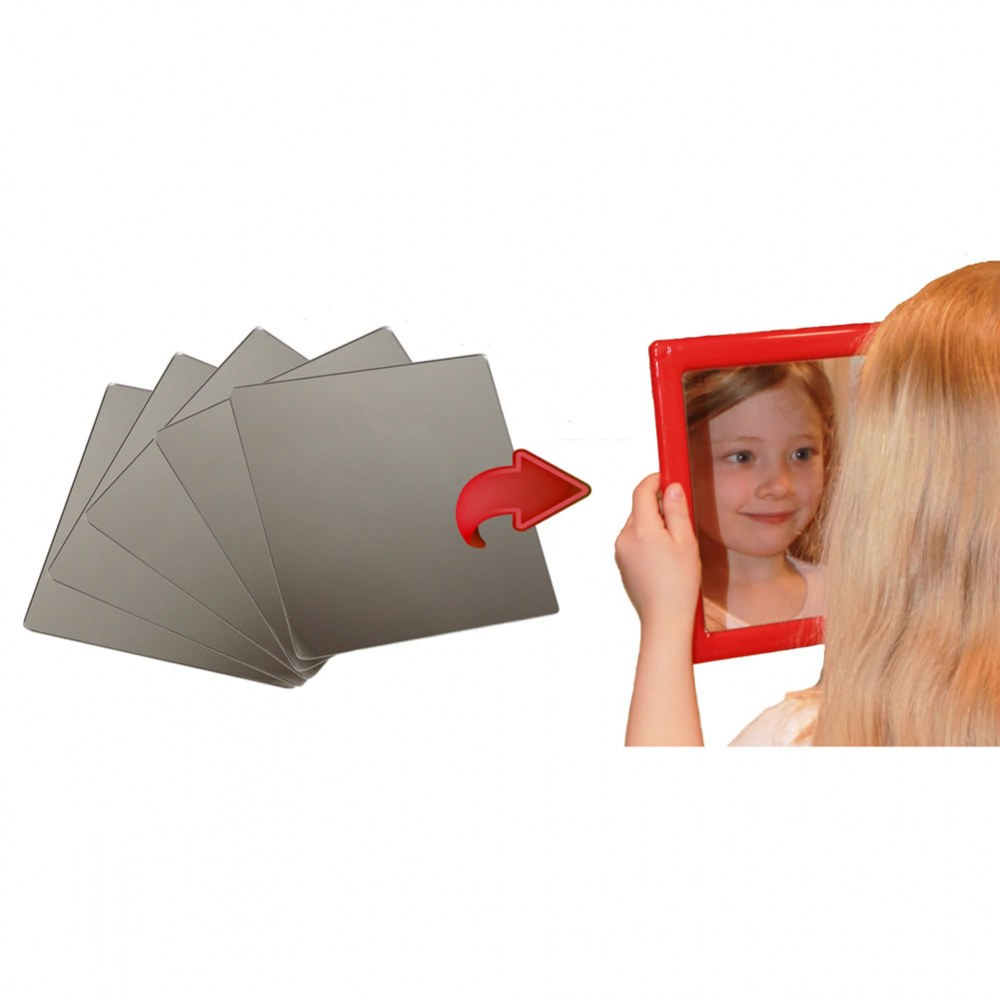 Plastic Mirror Inserts Only - Set of 5