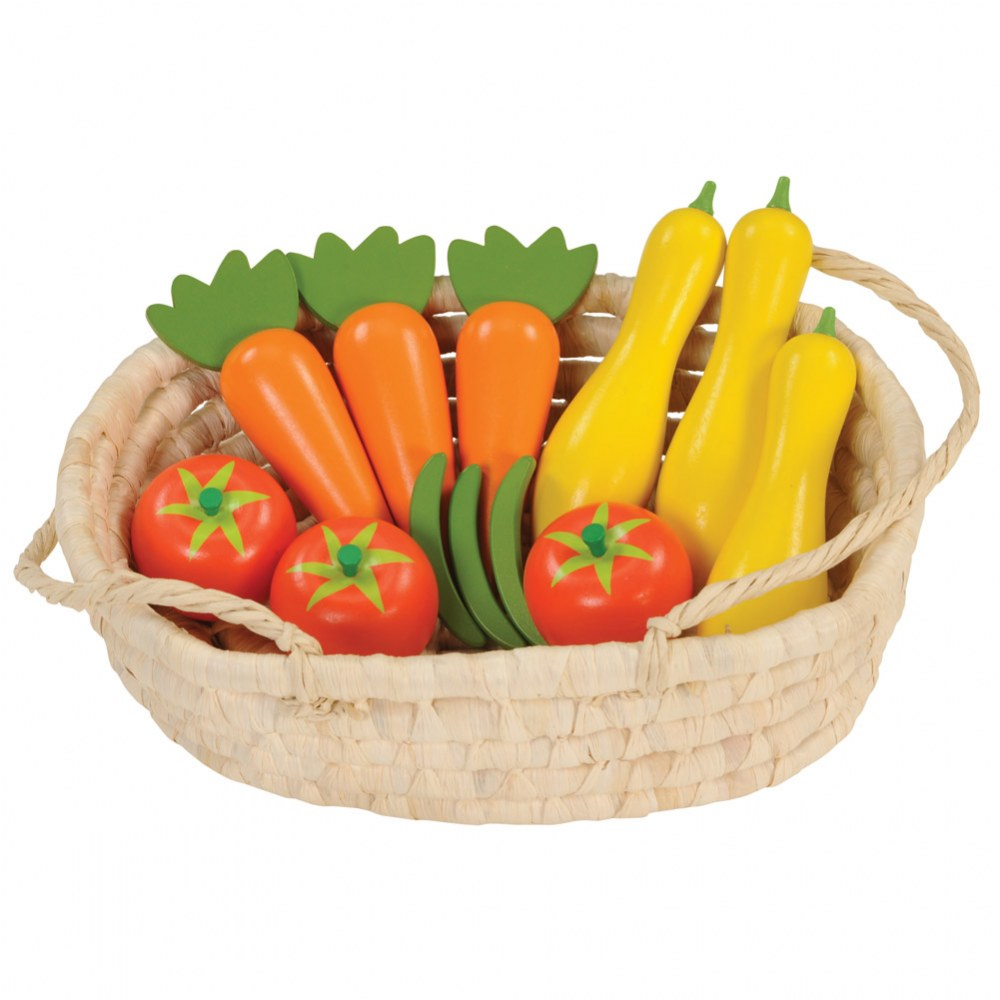 Alternate Image #2 of Harvest Basket Wooden Vegetables with Activity Cards