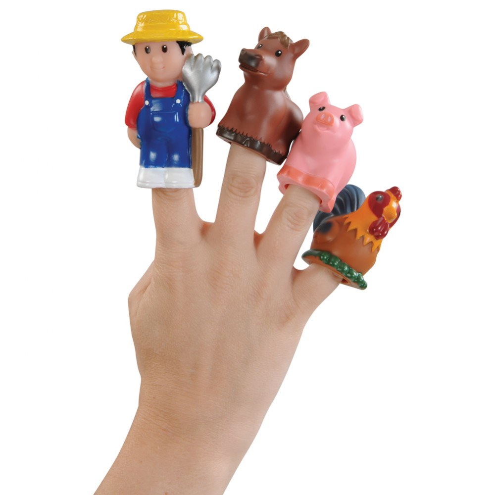 Alternate Image #1 of Old MacDonald's Farm Finger Puppets - Set of 6